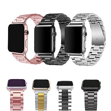 Недорогие Ремешки для Apple Watch-ремешки из нержавеющей стали для apple watch ремешок из металла ремешок для часов 38 40 42 44 браслет застежка серии 5 4 3 2 1