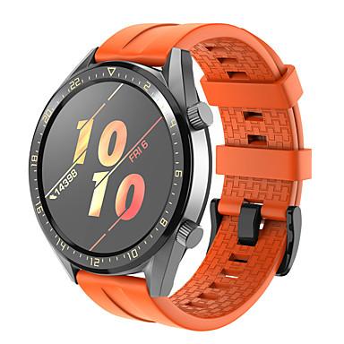 Недорогие Ремешки для часов Huawei-Ремешок для часов для Huawei Watch GT2 46mm Huawei Спортивный ремешок силиконовый Повязка на запястье