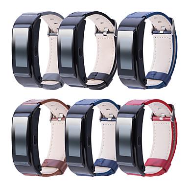 Недорогие Ремешки для часов Huawei-Ремешок для часов для Huawei B5 Huawei Бизнес группа Натуральная кожа Повязка на запястье