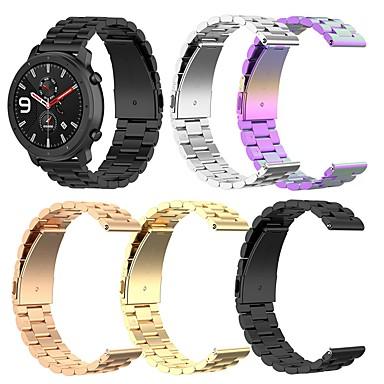 Недорогие Аксессуары для смарт-часов-Ремешок для часов для Pebble Time Pebble Классическая застежка Нержавеющая сталь Повязка на запястье