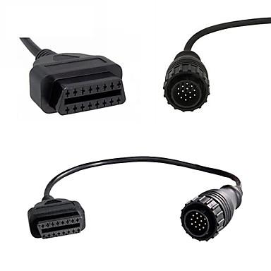 Недорогие OBD-разъем кабеля obdii для Mercedes для Benz Sprinter 14-контактный для старых автомобилей Интерфейс подходит для Benz 14-контактный штекер 16-контактный obd2 женский