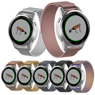 Недорогие Аксессуары для смарт-часов-Ремешок для часов для Garmin Vivoactive 4S Garmin Спортивный ремешок / Классическая застежка / Миланский ремешок Нержавеющая сталь Повязка на запястье