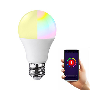 economico LED e illuminazione-led wifi smart bulb ball rgb colorato colore dimmerabile lampadina rgb e27 b22 e26 1 confezione