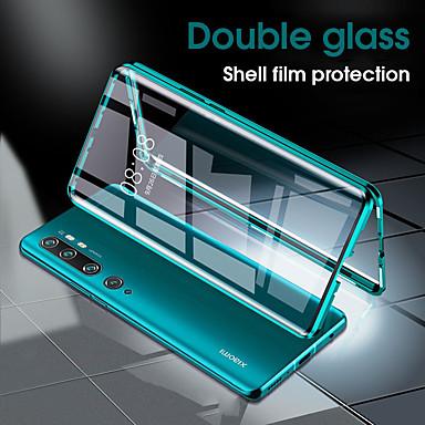 Недорогие Чехлы и кейсы для Xiaomi-магнитный металлический чехол из двухцветного закаленного стекла для телефона xiaomi mi 10 10 pro cc9 pro note 10 note 10 pro