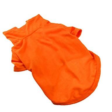 Câini Pisici Animale de Companie Γιλέκο Îmbrăcăminte Câini Portocaliu Galben Verde Costume Corgi Beagle Shiba Inu Bumbac Simplu Mată Motto & Zicale Casul / Zilnic stil minimalist XS S M L XL