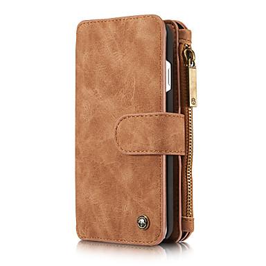 Недорогие Кейсы для iPhone-Caseme многофункциональный магнитный роскошный деловой кожаный флип-чехол для телефона для iphone 8/7/6 / 6s / 8 plus / 7 plus / 6 plus со съемным чехлом