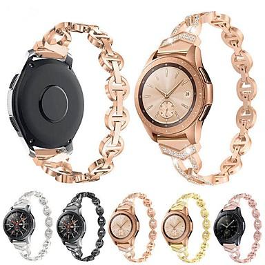 Недорогие Часы для Samsung-Ремешок для часов для Samsung Galaxy Watch 42 / Samsung Galaxy Watch Active Samsung Galaxy Дизайн украшения Нержавеющая сталь Повязка на запястье