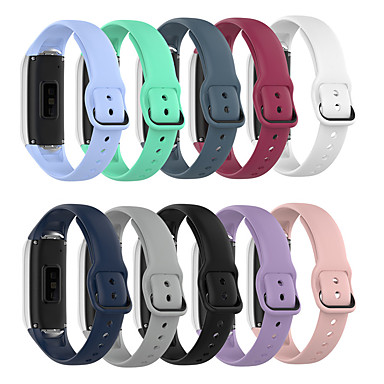 Недорогие Аксессуары для мобильных телефонов-Ремешок для часов для Samsung Galaxy Fit SM-R370 Samsung Galaxy Современная застежка силиконовый Повязка на запястье