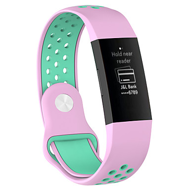 Недорогие Аксессуары для смарт-часов-Ремешок для часов для Fitbit Charge 3 Fitbit Современная застежка силиконовый Повязка на запястье