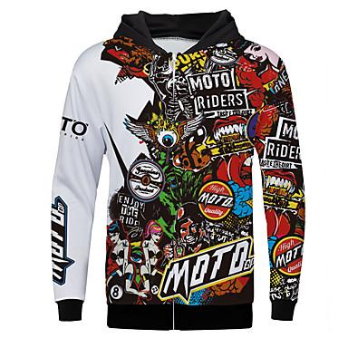 billige Motorcykeljakker-moto motocross fleece sweatshirt ridning slid tøj udendørs sport afslappet jakke voksne lange ærmer polyster varmere / åndbar / hurtigt tør motorcykeltrøje