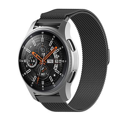 Недорогие Часы для Samsung-Ремешок для часов для Gear S3 Classic / Gear 2 R380 / Gear 2 Neo R381 Samsung Galaxy Миланский ремешок Нержавеющая сталь Повязка на запястье