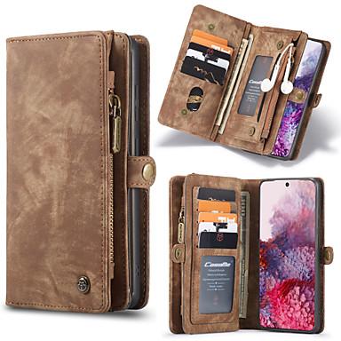 Недорогие Чехол Samsung-Caseme Luxury Business кожаный магнитный флип чехол для Samsung Galaxy S20 / S20 Plus / S20 Ultra / Note 10 / Note 10 Plus / S10 Plus / S9 Plus / S8 Plus / S10 / S9 / S8 слот для карт памяти слот