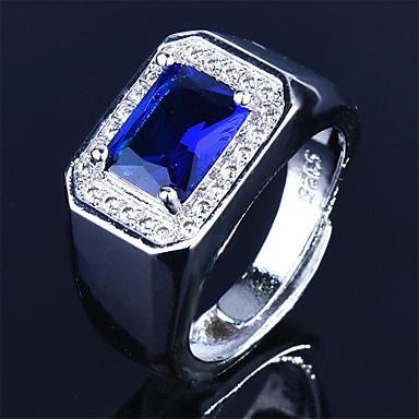 cheap Rings-Men's Ring 1pc Green Blue Copper Round Stylish Gift Festival Jewelry Classic Flower