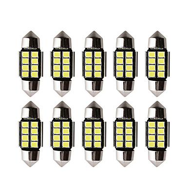 Недорогие Освещение салона авто-10 шт. Светодиодные лампы c5w светодиодные лампы canbus 12 В гирлянда 31 мм 36 мм 39 мм 41 мм c5w c10w настольная лампа освещения салона автомобиля 2835 smd белый