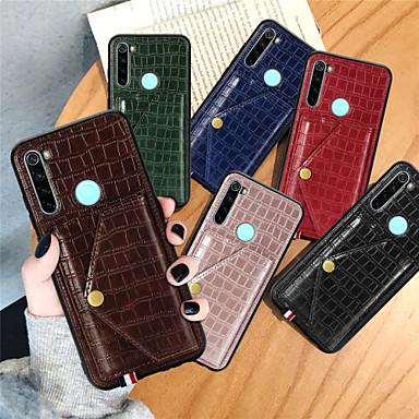 Недорогие Чехлы и кейсы для Xiaomi-чехол для xiaomi redmi note 8 / redmi note 8 pro / xiaomi mi 10 кошелек / визитница / с подставкой на задней крышке однотонная кожа pu для redmi note 8 / redmi note 8t / xiaomi mi 10 / xiaomi mi 10