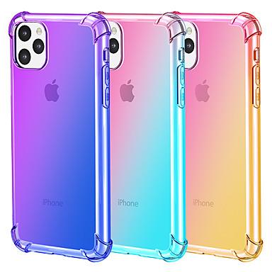 Недорогие Кейсы для iPhone-Цвет градиента мобильный телефон чехол для iphone11 pro max iphone xr xs max x 7 7 6 6 s плюс прозрачный ультратонкий защитный чехол ТПУ