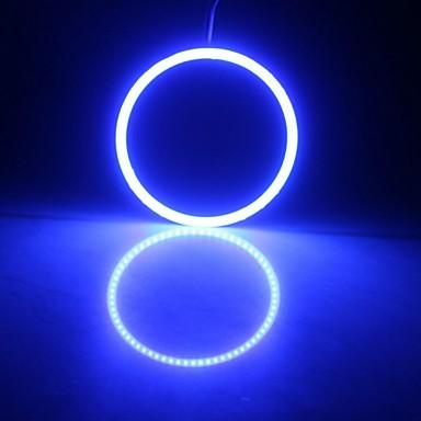 Недорогие Автомобильные фары-светодиодные удары ангельские глазки светодиодное кольцо ореола автомобиля дневного света лампы 90 мм белый синий 12 В 24 В постоянного тока 2 шт.
