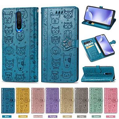 Недорогие Чехлы и кейсы для Xiaomi-чехол для xiaomi redmi 7 / mi 9 / mi 9 se кошелек / визитница / с подставкой для всего тела однотонные / из искусственной кожи животных для xiaomi cc9 / cc9e / redmi k30 / 7a / 8 / 8a / note 7 / note