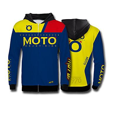 Недорогие Мотоциклетные куртки-Мотокросс флисовая толстовка с длинными рукавами велоспорт джерси скоростной свитер спорт на открытом воздухе повседневная куртка moto gp