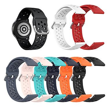 Недорогие Часы для Samsung-22мм для samsung galaxy watch 46мм r800 / gear s3 / gear2 r380 / gear2 neo r381 / live r382 дышащий силиконовый спортивный ремешок