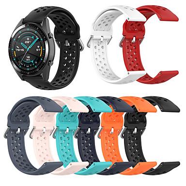Недорогие Ремешки для часов Huawei-22мм дышащий силиконовый спортивный ремешок для huawei honor magic / magicwatch 2 46mm / watch gt / watch gt2 46mm / watch2 pro