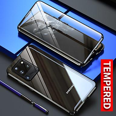 Недорогие Чехол Samsung-магнитный чехол для samsung galaxy s20 ultra case s20plus / s20 note 20 ultra s10 plus galaxy a51 case a91 m50s s10e a71 металлический двухсторонний стеклянный чехол защитный чехол для телефона