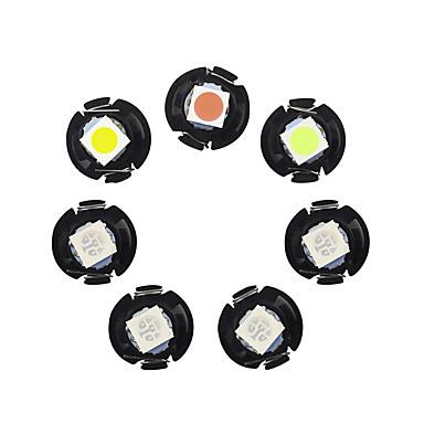 Недорогие Освещение салона авто-T3 T4.2 T4.7 светодиодные автомобильные датчики света светодиодные приборной панели 1 светодиодные лампочки smd 12 В постоянного тока белый синий 10 шт.