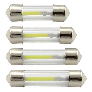 Недорогие Освещение салона авто-31мм 36мм 39мм 41мм 1 коб c5w светодиодный гирлянда купола 12 В постоянного тока светодиодный интерьер салона для чтения ламп подсветки багажника лампы белый / теплый белый / синий 2шт