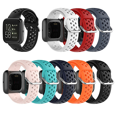 Недорогие Аксессуары для смарт-часов-Ремешок для часов для Fitbit Versa / Fitbi Versa Lite / Fitbit Versa2 Fitbit Спортивный ремешок / Современная застежка силиконовый Повязка на запястье