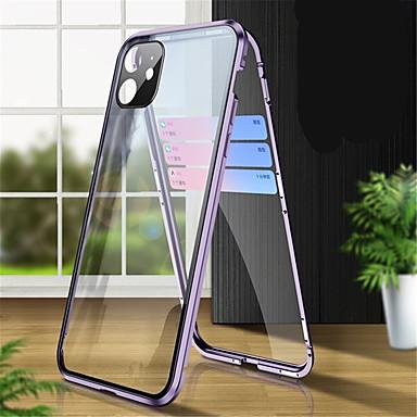 Недорогие Кейсы для iPhone-магнитный адсорбционный закаленное стекло двусторонний чехол для iphone 11 / 11pro coque 360 защитные чехлы для iphone 11 pro max
