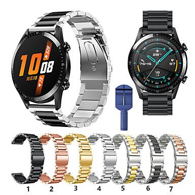Недорогие Ремешки для часов Huawei-для Huawei часы GT Active / часы GT / честь магии / часы 2 Pro металла смарт ремешок для часов ремешок из нержавеющей стали