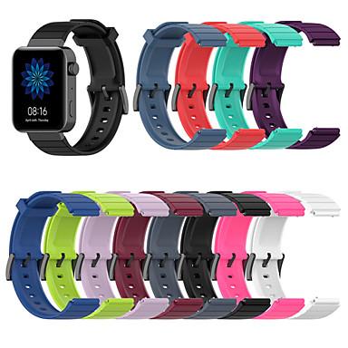 Недорогие Аксессуары для мобильных телефонов-18мм силиконовый спортивный ремешок для часов ремешок для Xiaomi Smart Watch