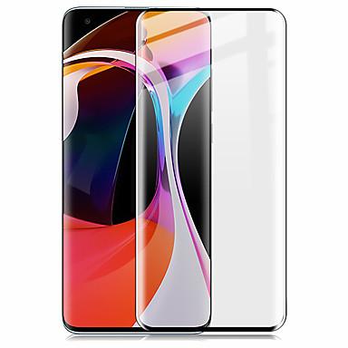Недорогие Защитные плёнки для экранов Xiaomi-Защитная пленка для экрана xiaomi mi 10/10 pro 3d изогнутая полностью закаленное стекло Защитная пленка для экрана высокой четкости (hd) / 9h твердость / взрывозащищенность