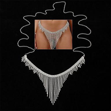 ieftine Bijuterii de Corp-Lanț de Talie Corp lanț / burtă lanț Stil Atârnat Nuntă European Pentru femei Bijuterii de corp Pentru Petrecere / Seară Concediu Link / Lanț Diamant sintetic Aliaj Argintiu 1 Bucată