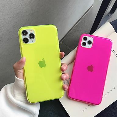 Недорогие Кейсы для iPhone-чехол для apple iphone 11 11pro 11 pro max четырехцветный флуоресцентный сплошной цвет тпу материал устойчивый к царапинам чехол для мобильного телефона