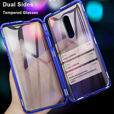 cheap Oneplus Case-360 Double Side Magnetic Flip Tempered Glass Phone Case For OnePlus 7 Pro One Plus 6T One Plus 7T Pro OnePlus 6 Full Body Anti-Explosion Protective