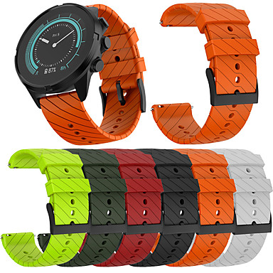cheap Watch Bands for Suunto-Sports Soft Silicone Replacement Band Strap for Suunto 9/9 Baro Copper Watch Bracelet Strap Watch Wrist Belt Band for Suunto 9/9 Baro