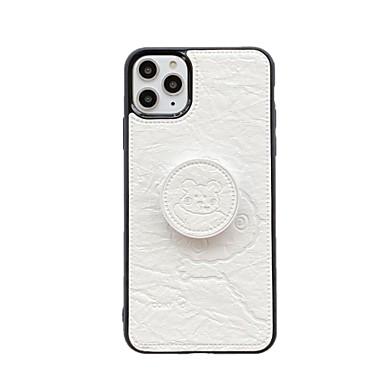 Недорогие Кейсы для iPhone-Кейс для Назначение Apple iPhone 11 / iPhone 11 Pro / iPhone 11 Pro Max Кольца-держатели / С узором Кейс на заднюю панель Мультипликация ТПУ