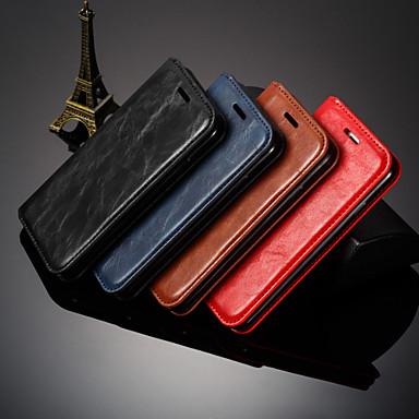 Недорогие Чехлы и кейсы для Xiaomi-чехол для xiaomi 9/9 se / 9t / 8 lite / redmi k20 / k20 pro / note 8 / note 8 pro / note 8t держатель для карт / противоударный / откидной чехол для всего тела однотонная искусственная кожа