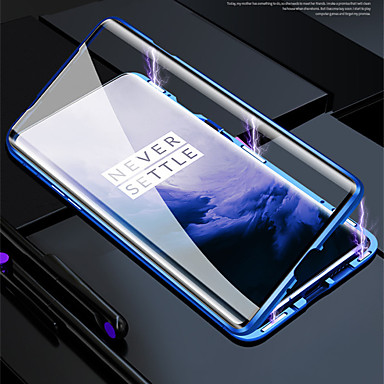 cheap Oneplus Case-Magnetic Case For One Plus 8 Pro / One Plus 7T Pro / One Plus 6T Pro Double Sided Glasses Case Shockproof /Protective Phone Case Water Resistant / Transparent Tempered Glass / Metal Case