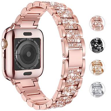 Недорогие Аксессуары для смарт-часов-Ремешок для часов для Серия Apple Watch 5/4/3/2/1 Apple Дизайн украшения Нержавеющая сталь Повязка на запястье
