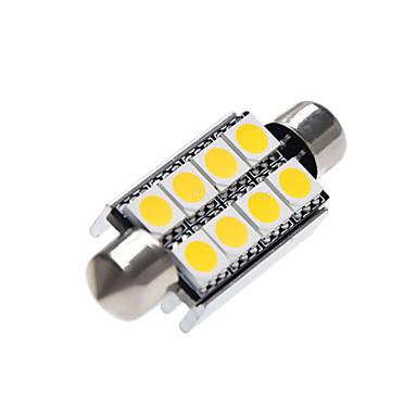 Недорогие Освещение салона авто-41 мм 5050 c5w 8 светодиодный купол гирлянды 12 В постоянного тока светодиодный интерьер салона для чтения фар багажника лампы белый теплый белый 2 шт.
