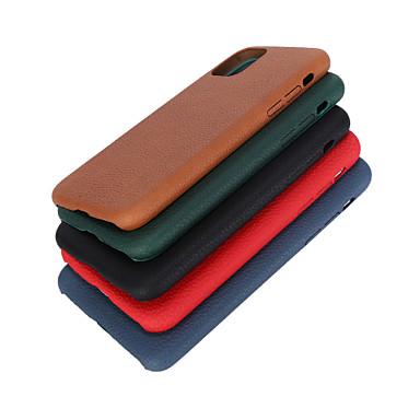 Недорогие Кейсы для iPhone-Кейс для Назначение Apple iPhone 11 / iPhone 11 Pro / iPhone 11 Pro Max Матовое Кейс на заднюю панель Плитка ТПУ / Углеродное волокно