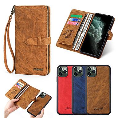 Недорогие Кейсы для iPhone-Кейс для Назначение Apple iPhone 11 / iPhone 11 Pro / iPhone 11 Pro Max Кошелек / Бумажник для карт / Защита от удара Чехол Мрамор Кожа PU / Настоящая кожа