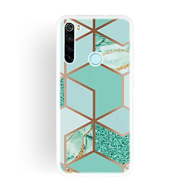Недорогие Чехлы и кейсы для Xiaomi-чехол для xiaomi карта сцены redmi k30 k30 pro note10 note 10 pro красочная геометрическая мозаика мраморный рисунок тпу материал imd процесс все включено чехол для мобильного телефона qxc