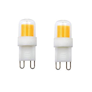 povoljno LED žarulje-2pcs 2 W LED svjetla s dvije iglice 400-450 lm G9 E12 1 LED zrnca COB Toplo bijelo Hladno bijelo