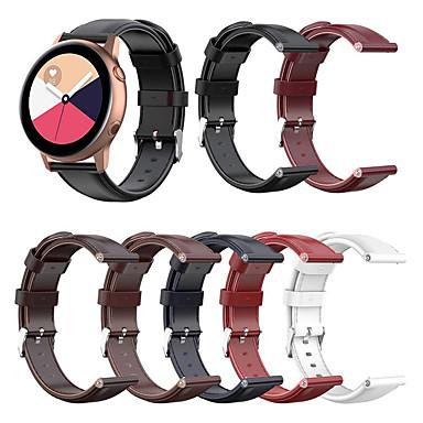 Недорогие Часы для Samsung-для samsung galaxy watch 42mm / активный / активный2 / gear sport / s2 classic ремешок из натуральной кожи ремешок на запястье
