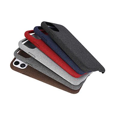 Недорогие Кейсы для iPhone-Кейс для Назначение Apple iPhone 11 / iPhone 11 Pro / iPhone 11 Pro Max Матовое Кейс на заднюю панель Плитка текстильный / ТПУ