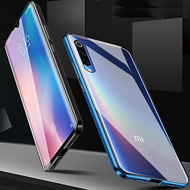 Недорогие Чехлы и кейсы для Xiaomi-магнитный двусторонний чехол для xiaomi note 10 / cc9 pro / mi max 3 ударопрочный / водостойкий / прозрачный закаленный стеклянный корпус для redmi 8a / note 8 pro / note 7 pro / k20 pro / mi 9 se / m