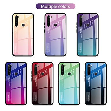 Недорогие Чехлы и кейсы для Xiaomi-чехол для xiaomi графика сцены xiaomi 10 10 pro redmi note 8 note 8 pro двухцветный узор с градиентом, закаленное стекло, задняя пластина, тпу, рамка два в одном, антипадение, чехол для мобильного